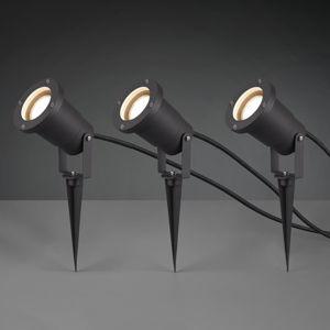 Trio Lighting Venkovní bodové osvětlení Ubangi s hrotem, 3ks