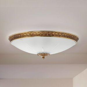 RIPERLamP Stropní světlo Azalea zlatá patina, bílá, Ø 34 cm