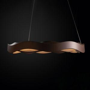 GROK Grok Hello LED závěsné světlo, stmívač, Ø 63 hnědá