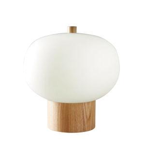 GROK Grok Ilargi LED stolní lampa světlá Ø 24cm stmívač