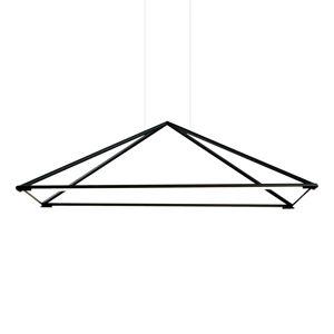 GROK Grok Tubs LED závěsné světlo matná černá 120x80 cm