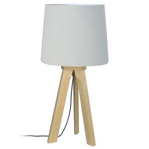 HerzBlut HerzBlut Tre stolní lampa, dub přírodní, bílá 66cm