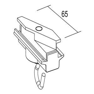 IVELA Ivela adaptér mechanický, s hákem, bílá