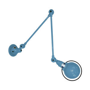 JIELDÉ Jieldé Signal SI331 nástěnné světlo 2klouby modrá