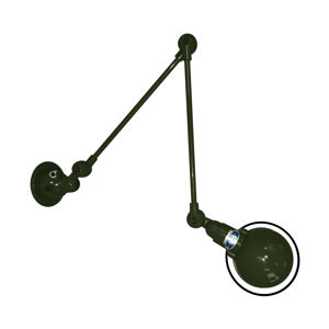 JIELDÉ Jieldé Signal SI331 nástěnné světlo 2klouby zelená
