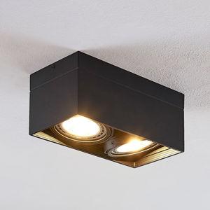Arcchio Stropní LED reflektor Michonne, černý, dvoubodový