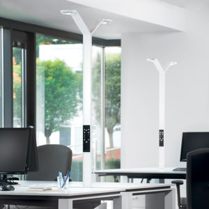 Luctra Luctra Floor Twin Radial LED stojací lampa bílá